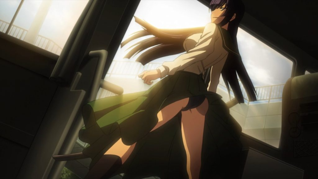 Highschool of the Dead Episode 5 Saeko Gets off the Bus
