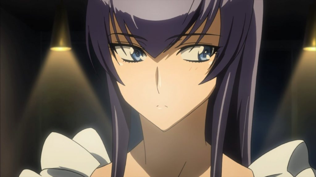 Highschool of the Dead Episode 6 Saeko Apron Looking