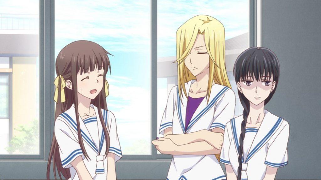 Fruits Basket Episode 1 Tohru Honda Arisa and Saki