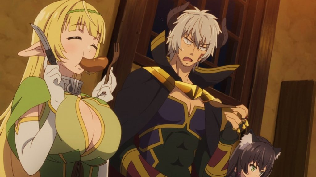 How Not To Summon A Demon Lord Episode 1 Shera Stuffing Her Face