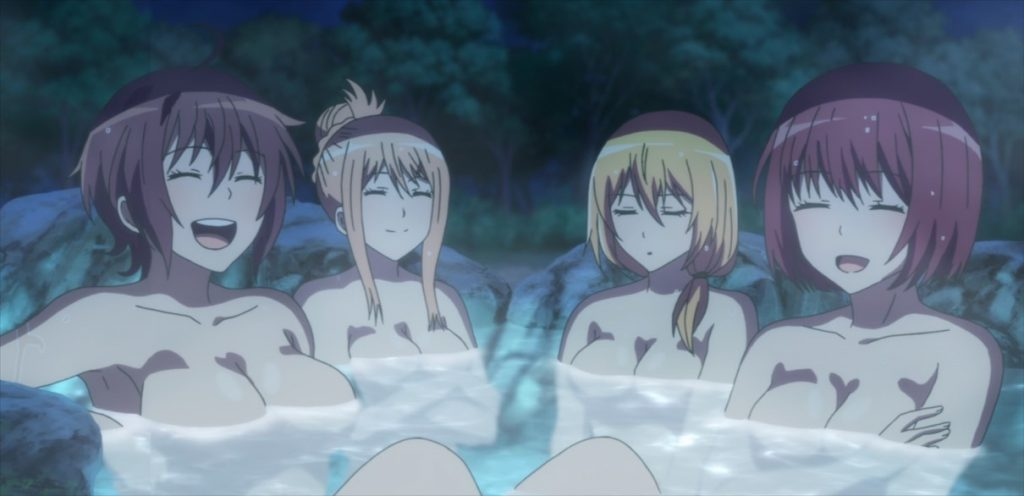 Are You Lost Episode 8 Asuka Homare Shion and Mutsu Hot Pool Naked