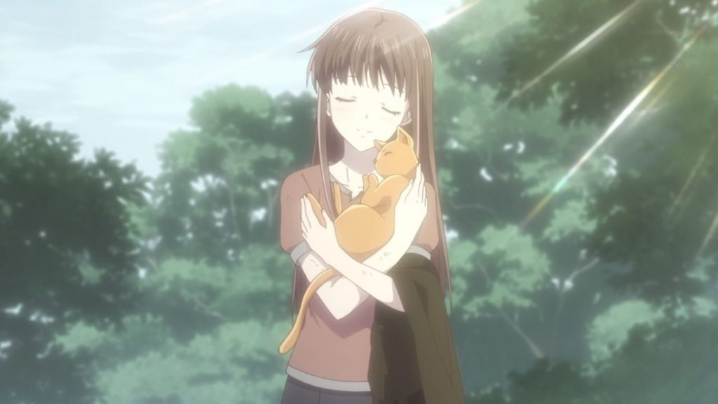 Fruits Basket Episode 24 Tohru and Kyo in cat form