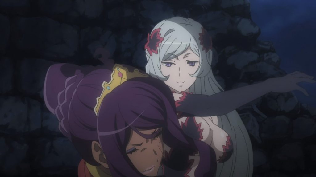 Is It Wrong To Try To Pick Up Girls In A Dungeon II Episode 10 Freya slaps Ishtar back to the Heavens