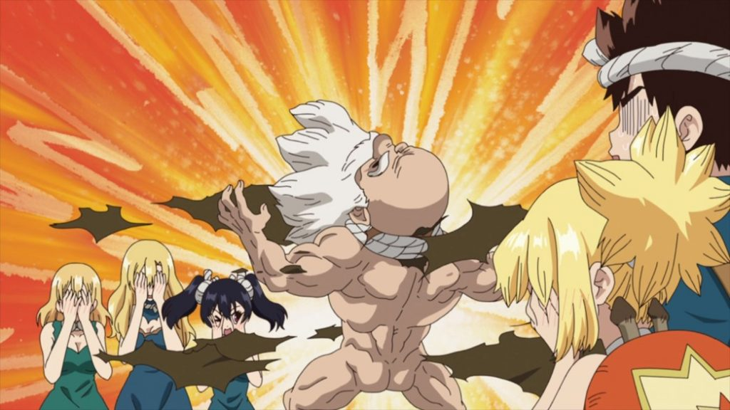 Dr Stone Episode 18 Kaseki is Excited