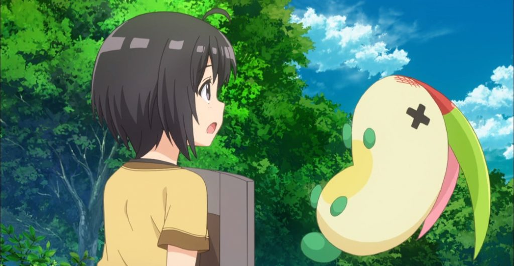 BOFURI Episode 1 Rabbit attacking Maple