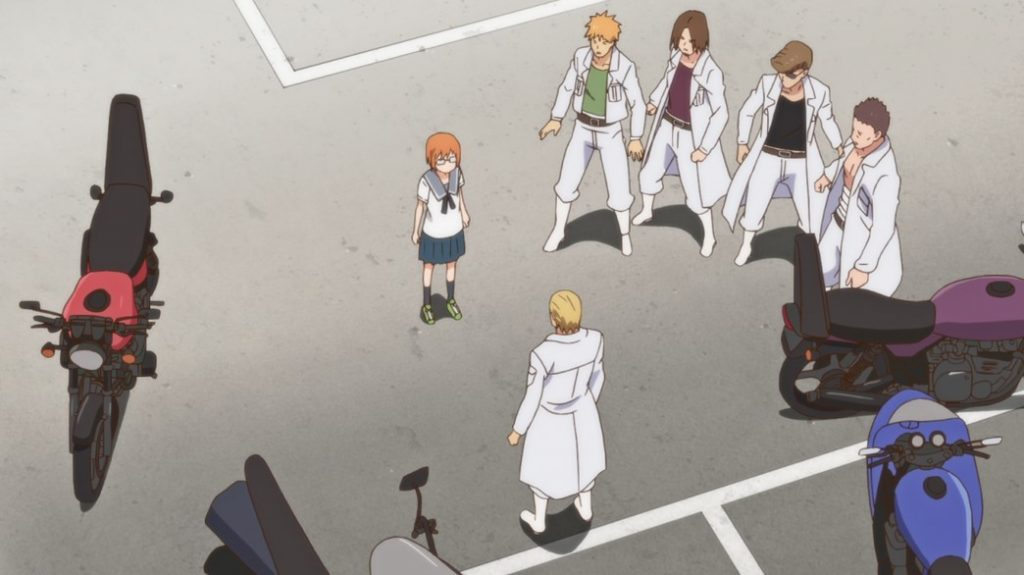 Chio's School Road Episode 3 Chio with Biker Gang