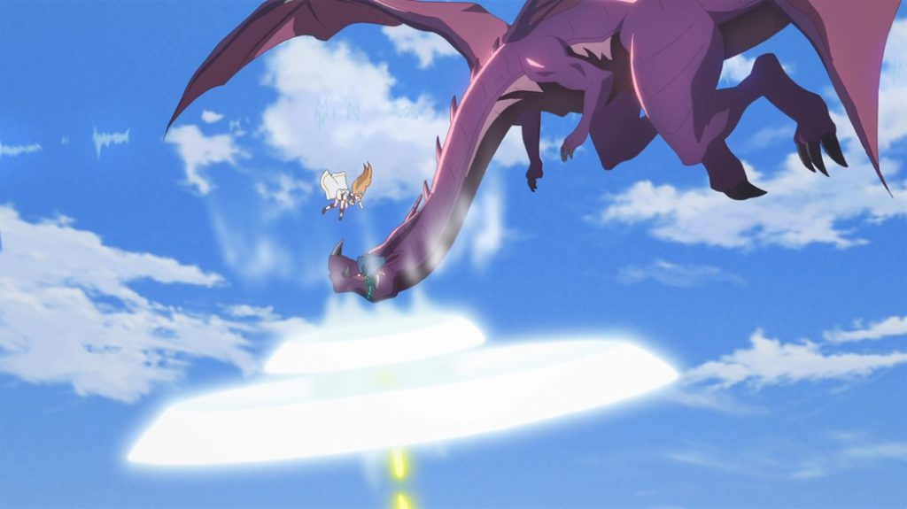 Princess Connect ReDive Episode 2 Pecorine punches a dragon