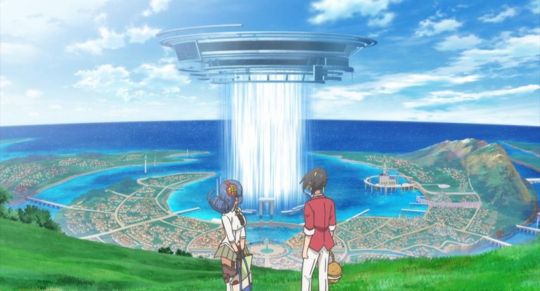 Shachibato President it's time for battle Episode 7 Minato and Guide have a picnic overlooking the Gate