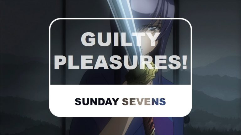 The Otaku Author Sunday Sevens Guilty Pleasures