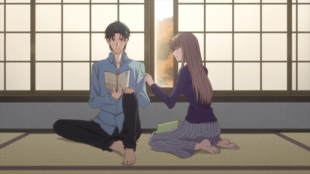 Fruits Basket Episode 37 Shigure and Mayuko