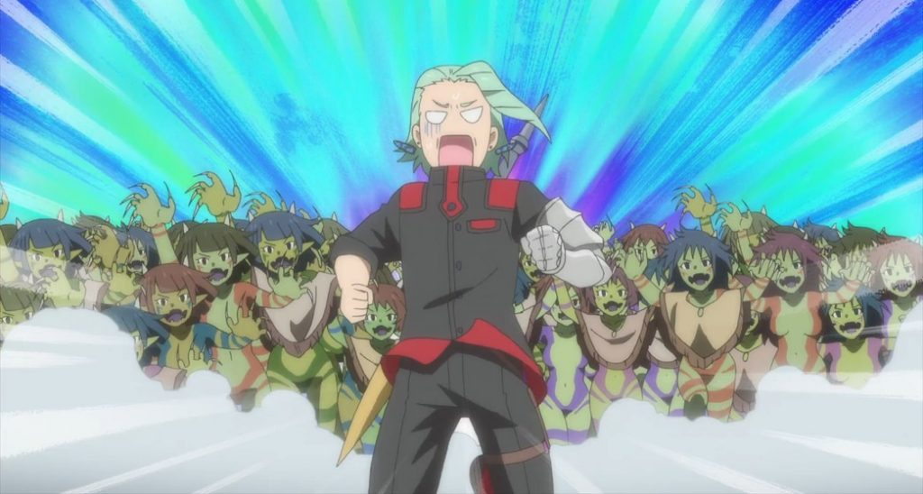 Shachibato President it's time for battle Episode 9 Rivar chased by Famnela