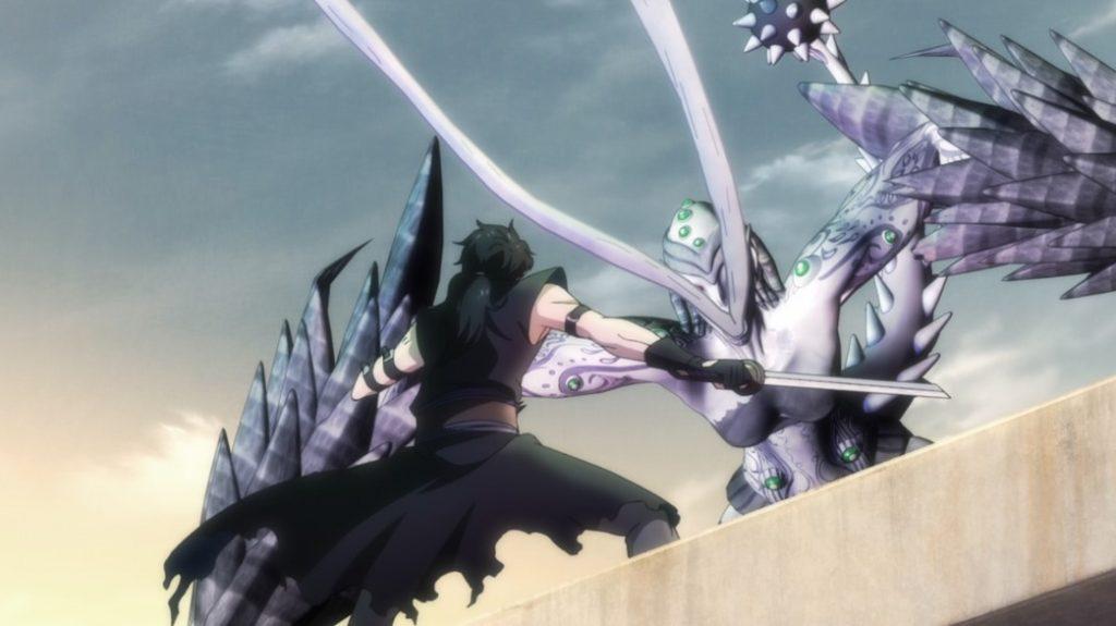 Gibiate Episode 3 Sensui Kanzaki fighting a Meteora