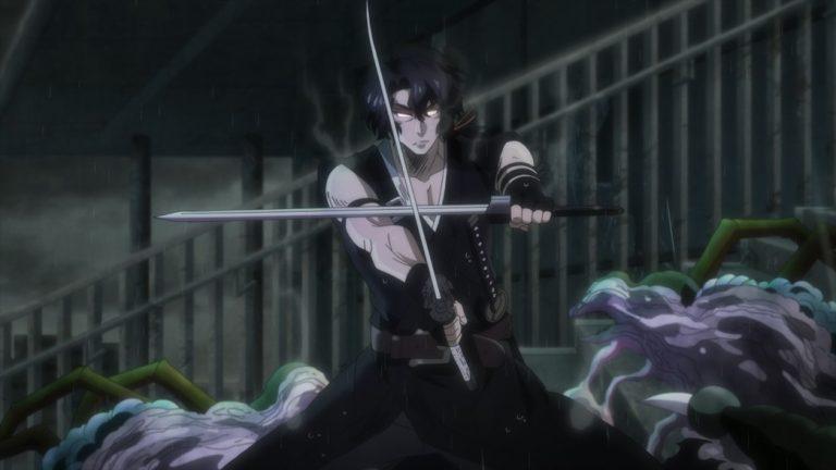 Gibiate Episode 4 Sensui Kanzaki cutting through the Gibia