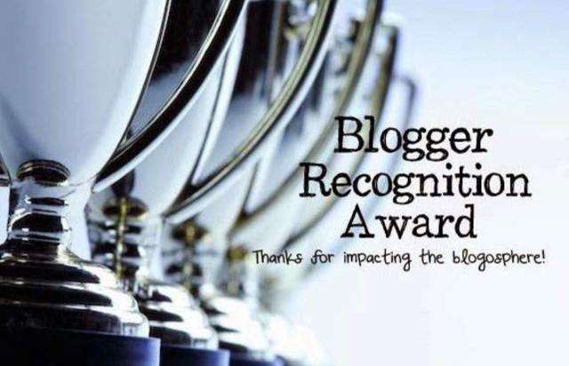 Blogger Recognition Award 2