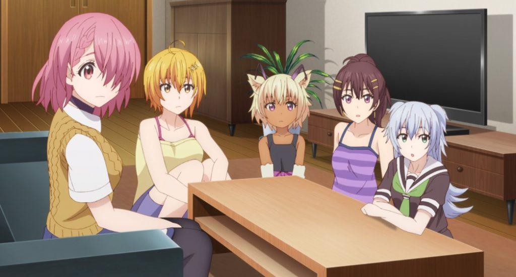 Dokyuu Hentai HxEros Shirayuki Maihime, Hoshino Kirara, Chacha, Mamozono Momoka, and Tenkuuji Sora