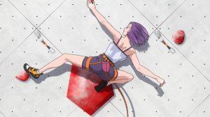 Iwa Kakeru Sport Climbing Girls Episode 1 Konomi has a go at Sports Climbing