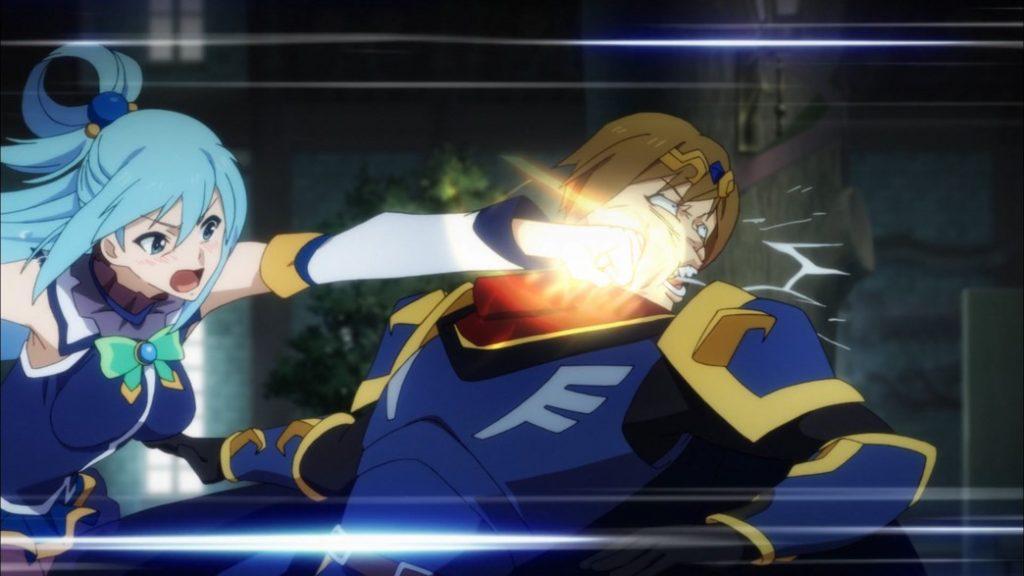 KonoSuba Episode 5 Aqua punches Kyouya