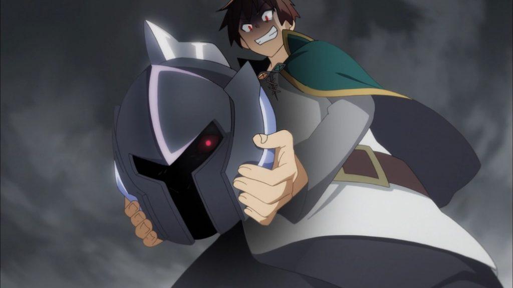 KonoSuba Episode 6 Kazuma steals Dullahan's Head