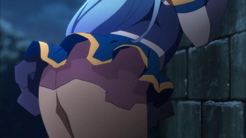KonoSuba Episode 12 Aqua trying to break Kazuma out of jail