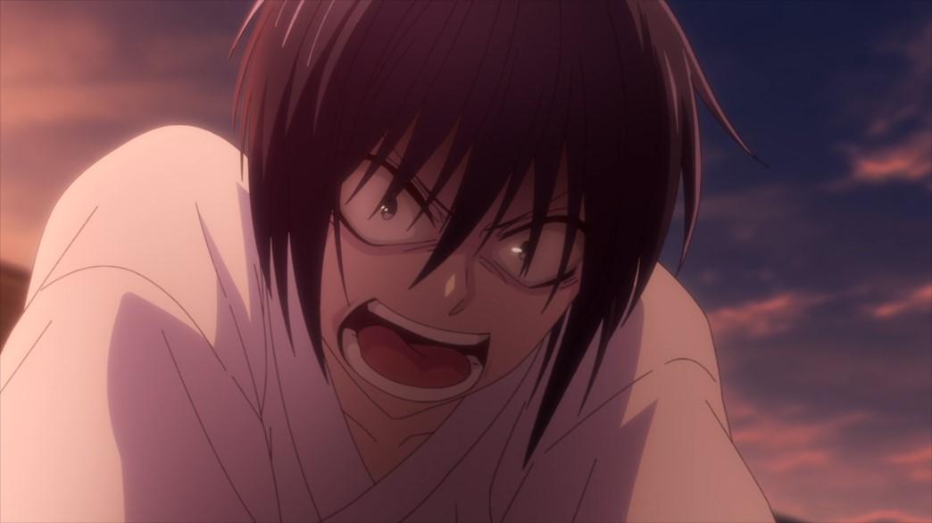 Fruits Basket Episode 51 Akito attacking Ren