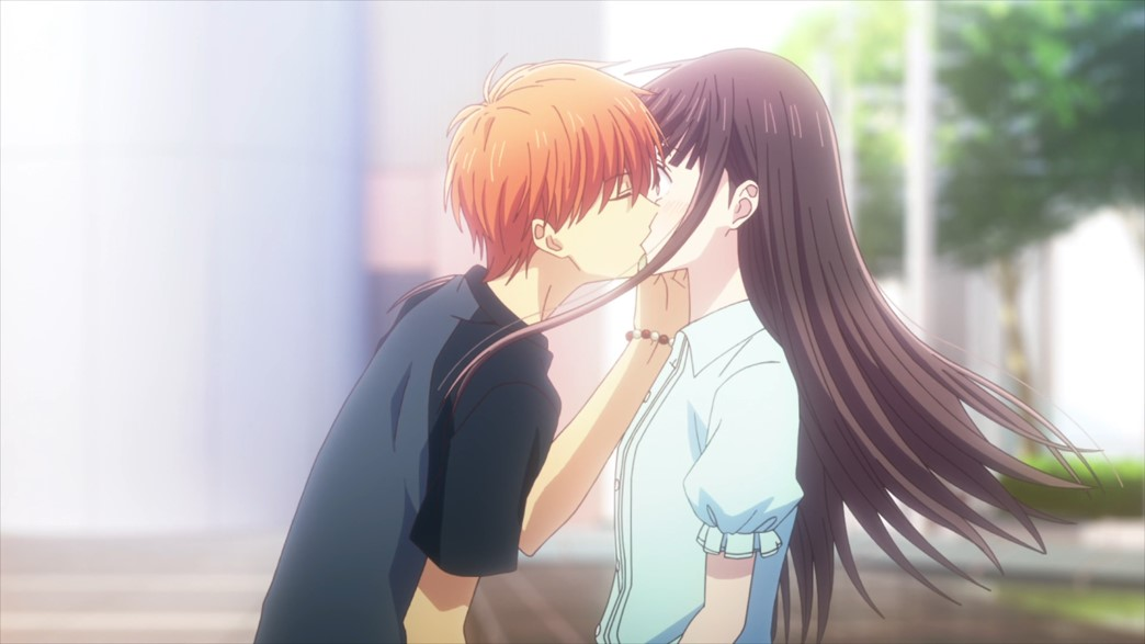 Fruits Basket Episode 61 Kyo and Tohru kiss