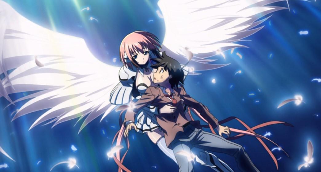 Heaven's Lost Property Episode 1 Ikaros saves Tomoki