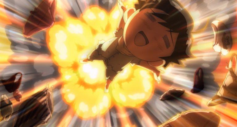 Heaven's Lost Property Episode 4 Tomoki blown up by Panties
