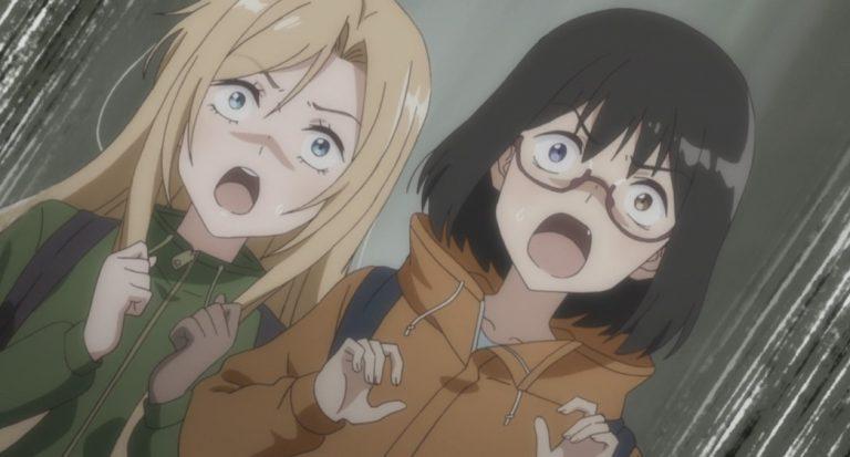 Otherside Picnic Episode 3 Sorao Kamikoshi and Toriko Nishina scared