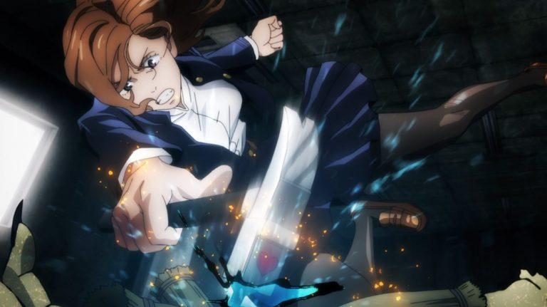 Jujutsu Kaisen Episode 3 Nobara Kugisaki hammering