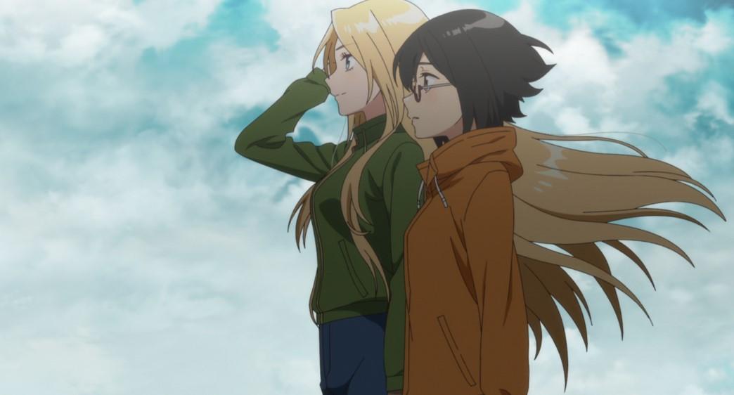 Otherside Picnic Episode 12 Sorawo Kamikoshi and Toriko Nishina reflecting