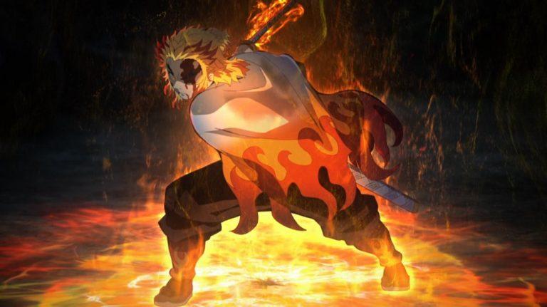Demon Slayer Kimetsu No Yaiba Mugen Train Rengoku goes all out
