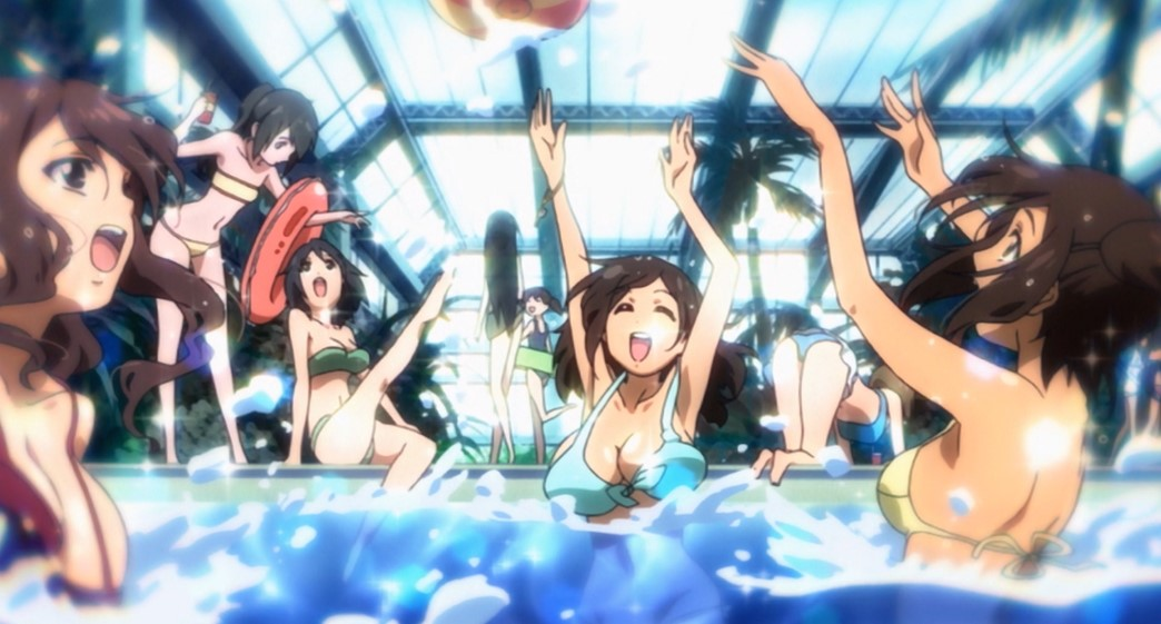 Heaven's Lost Property Episode 14 Girls in bikinis at the Water Park