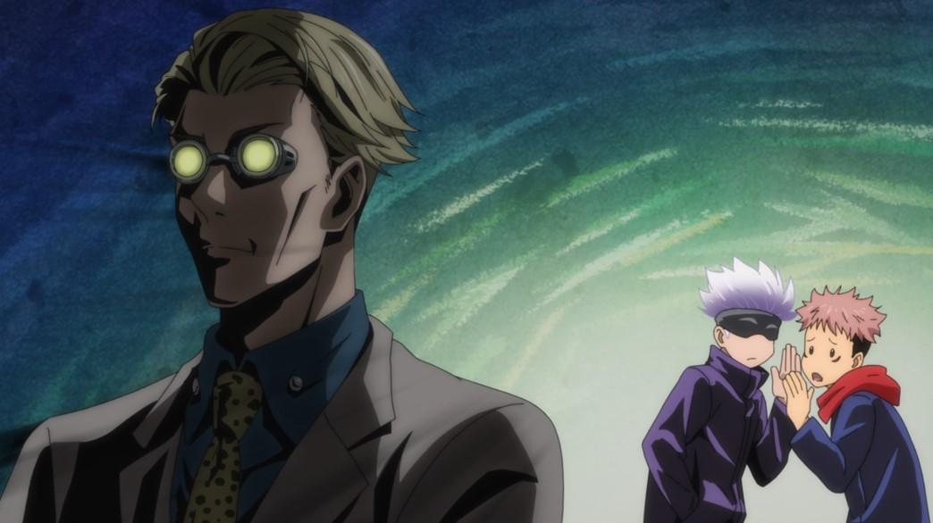 Jujutsu Kaisen Episode 9 Gojou introduces Itadori to Kento Nanami