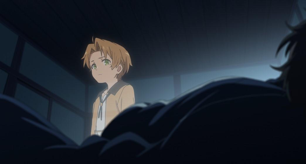 Mushoku Tensei Jobless Reincarnation Episode 2 Rudeus looking at his past life