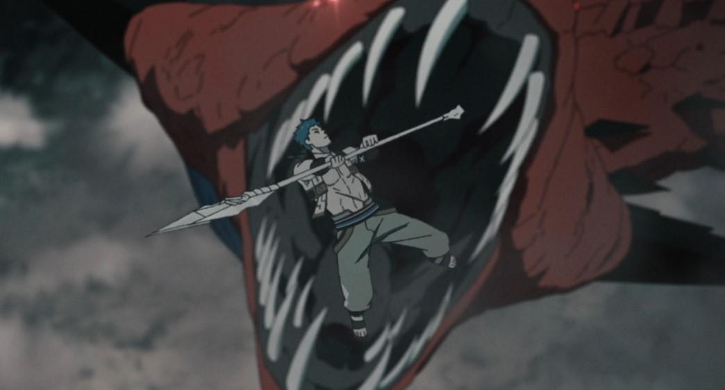 Mushoku Tensei Jobless Reincarnation Episode 11 Ruijerd attacks monster snake
