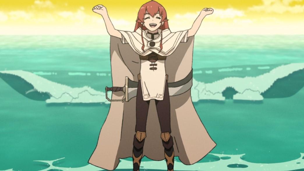 Mushoku Tensei Jobless Reincarnation Episode 12 Eris at the sea